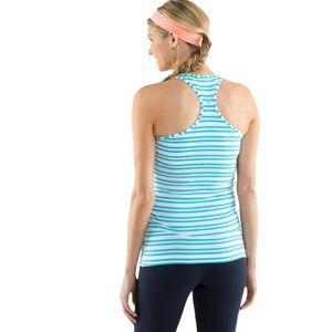 Lululemon Cool Racerback Twin Stripe Spry Blue 8